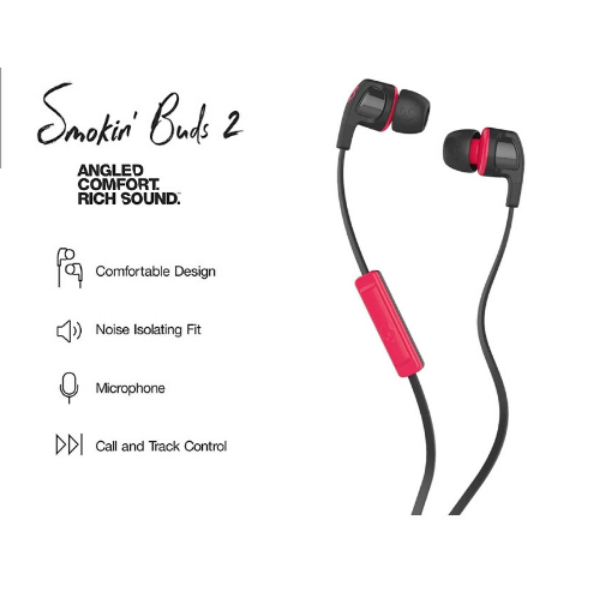 Skullcandy Smokin Buds 2 In-ear Earbuds with Mic
