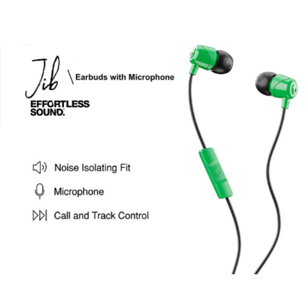 Skullcandy Jib In-Ear Earbuds With Mic
