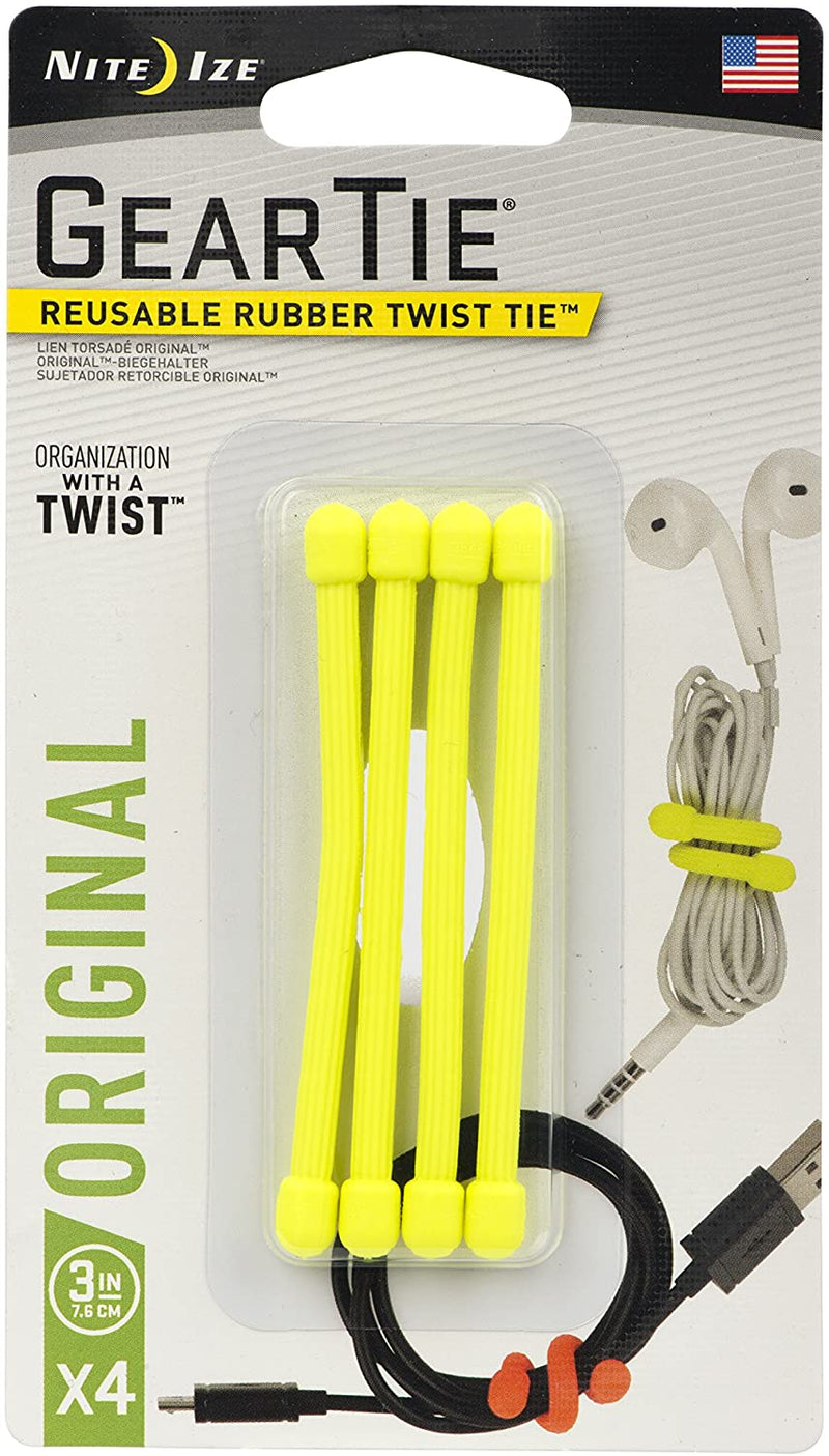Nite Ize Gear Tie Reusable Rubber Twist Tie