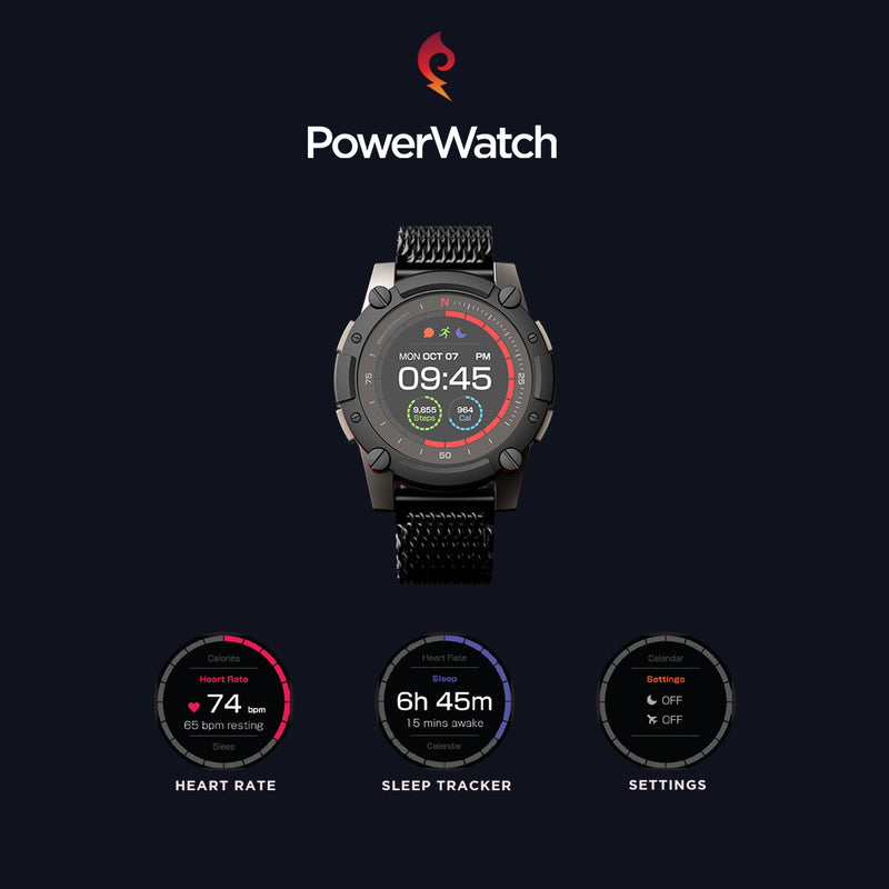 PowerWatch 2 Thermoelectric / Solar Powered Smart watch