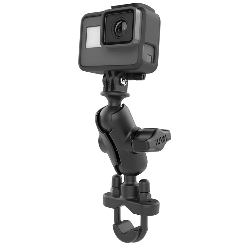 RAM® Handlebar U-Bolt Double Ball Mount with Action Camera Adapter