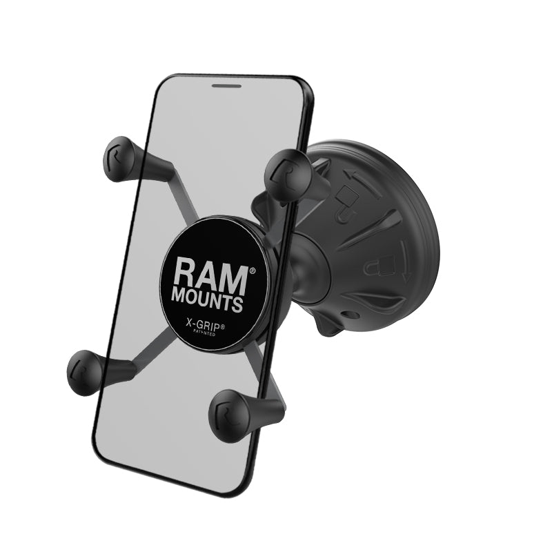 RAM® X-Grip® Phone Mount with RAM® Mighty-Buddy™ Suction Cup