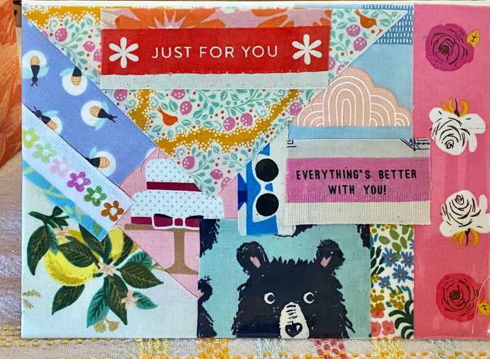 Happy Mail Cards with Fabric Scraps