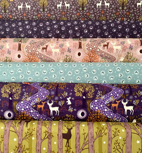 Nighttime in Bluebell Woods Lewis Irene Fat Quarter Bundle Fabric