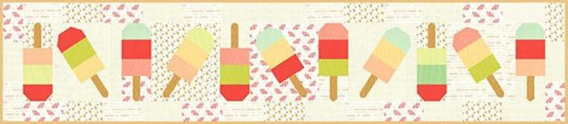 Mini Popsicles Pattern table runner Fig Tree Quilts