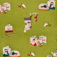 Load image into Gallery viewer, Aneela Hoey Cherry Christmas Snow Globe Stocking Moda Fabric Out of Print OOP