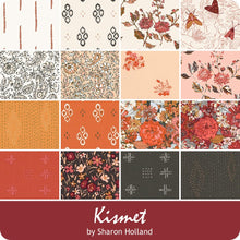 Load image into Gallery viewer, About the fabric collection:  Kismet by Sharon Holland  for Art Gallery Fabric  Sharon Holland harmoniously aligns hand drawn florals, classic paisley and earthy inspired motifs in this rich autumn filled collection. This quilting collection is colored in shades of berry, cinnamon, honey, cream and sable.