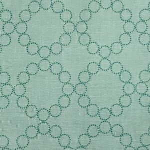 Aneela Hoey Cherry Christmas Circle Print Aqua Fabric Out of Print OOP