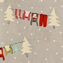 Load image into Gallery viewer, Aneela Hoey Cherry Christmas Sweaters on Clothesline Snow socks Moda Fabric Out of Print OOP