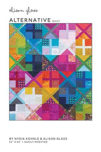 quilt pattern by Alison Glass paper piecing , X block, Plus block