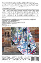 Load image into Gallery viewer, alison glass quilt pattern paper pieced. X block Plus Block