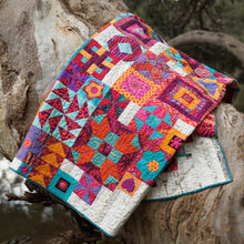 Load image into Gallery viewer, Jen Kingwell Boho Heart Quilt multi blocks