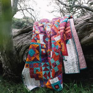 Jen Kingwell Boho Heart Quilt pattern multi blocks
