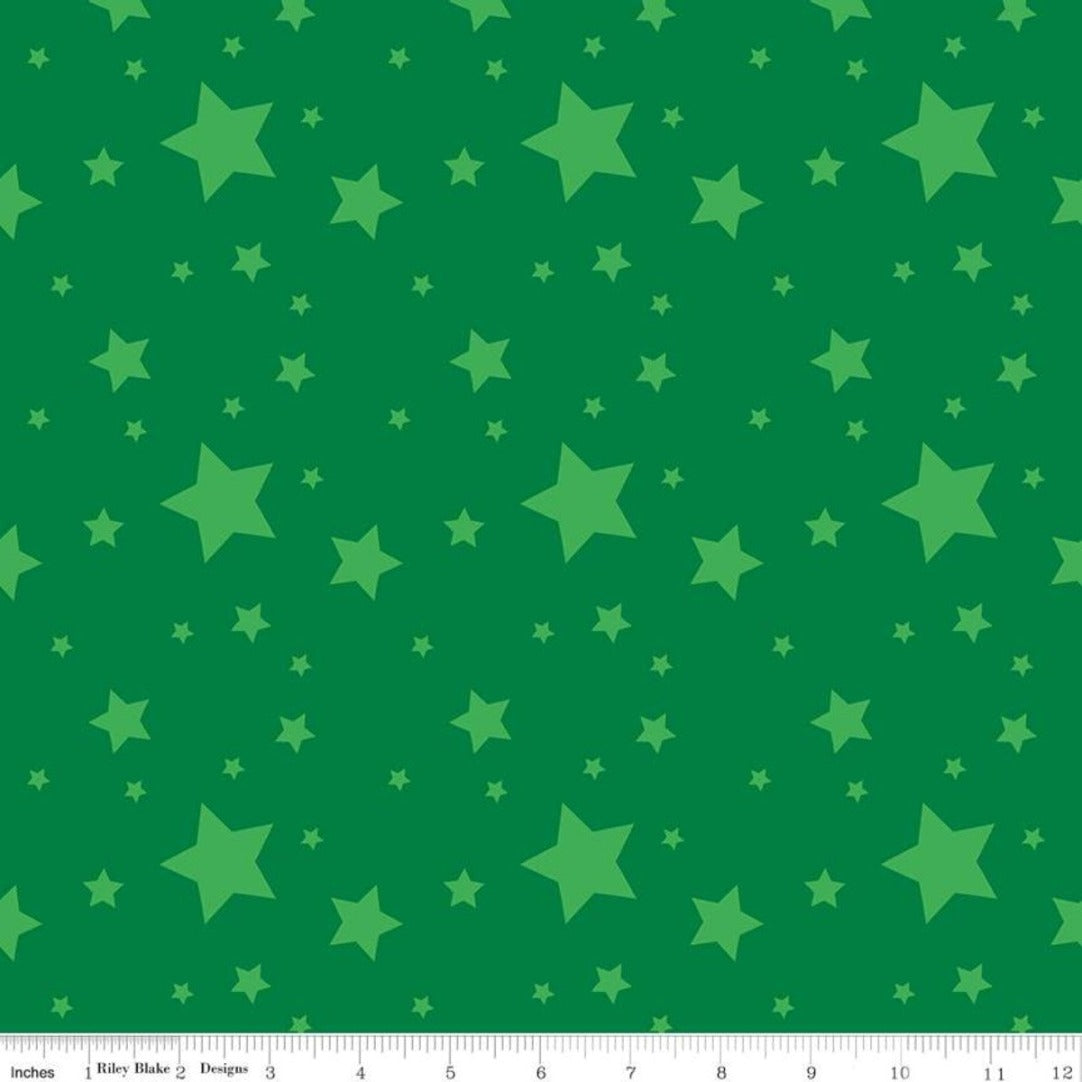 Create by Kristy Lea for Riley Blake Starlight Green