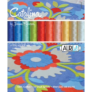 Catalina Collection Aurifil 50wt Cotton Set of 10