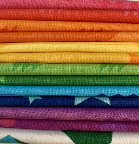 Create by Kristy Lea Quiet Play Riley Blake Rainbow Fat Quarter Bundle