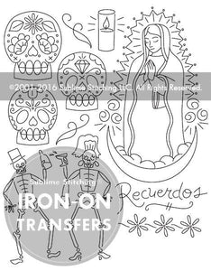 Sublime Stitching Embroidery Transfers Dia de los muertos
