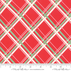 Urban Chiks Deer Christmas Retro Plaid Coordinate in Peppermint for Moda Fabrics
