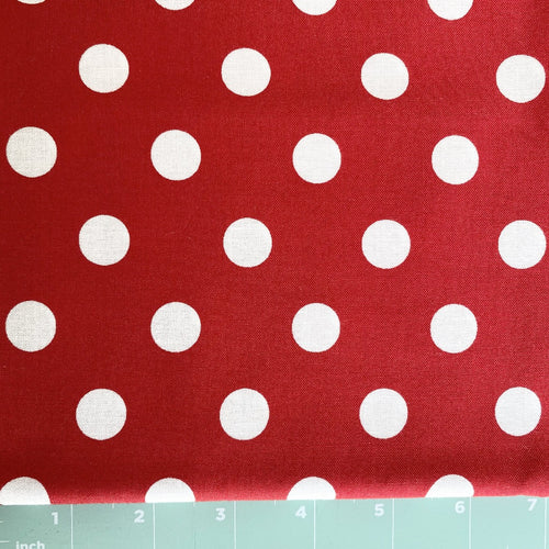 Moda classic dot, large white on red background
