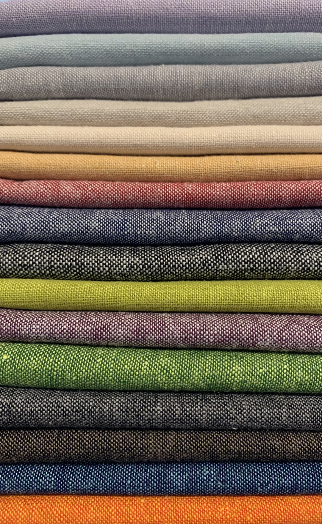 Yarn Dyed Essex Linen Robert Kaufman Fat Quarter Bundle 16 colors