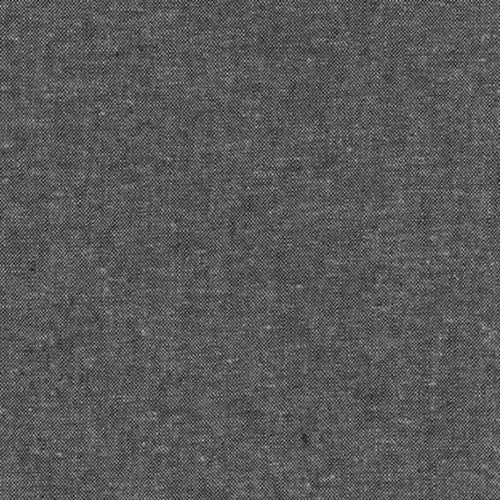 Essex Yarn Dyed Linen Robert Kaufman fabric charcoal gray background