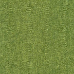 Robert Kaufman Yarn Dyed Essex Linen Palm Green Lime Pickle Fabric