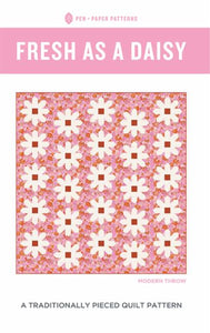 Fresh as a Daisy Pattern Pen and Paper Patterns Traditionally Pieced Chain Piece fat quarter friendly