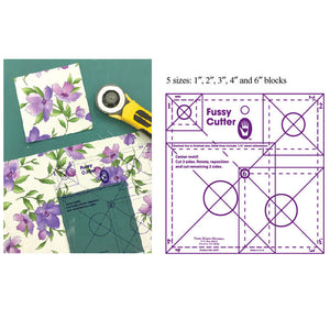 Fussy Cutter Ruler Marti Mitchell Multiple Sizes in One