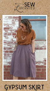 Sew Liberated gypsum skirt with pockets garment pattern