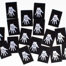 "Load image into Gallery viewer, ""Hand Made"" Kylie and the Machine Woven Labels 8 Pack"