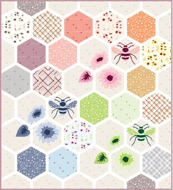 violet craft hexi foundation paper piecing