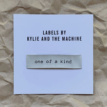 Load image into Gallery viewer, One of a Kind Kylie and the Machine Woven Quilt Label