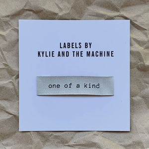 One of a Kind Kylie and the Machine Woven Quilt Label
