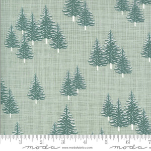 kate and birdie juniper pale green Christmas trees holiday winter themed botanical  moda