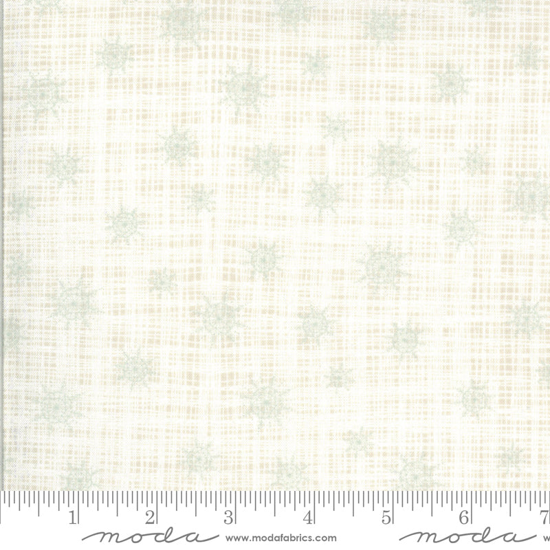 kate and birdie juniper Christmas holiday linen texture moda snowflake white