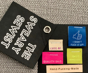 Kylie & the Machine The Sweary Sewist Limited Edition Quilt Labels Swear Words Multi-pack