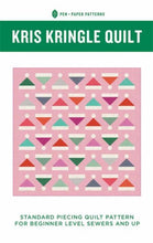 Load image into Gallery viewer, Kris Kringle Holiday Quilt Pattern Pen and Paper Patterns