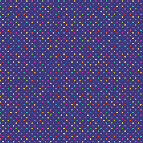 Lewis and Irene Bright Rainbow Small Polka Dot Cotton Quilting Fabric