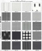 Load image into Gallery viewer, cotton woven neutrals by jen kingwell black, grey, ivory