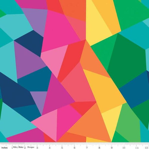 Create Main Print Multi Color Geometric Rainbow Kristy Lea Quiet Play