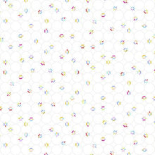Load image into Gallery viewer, RJR miniature minis links in white background fabric low volume