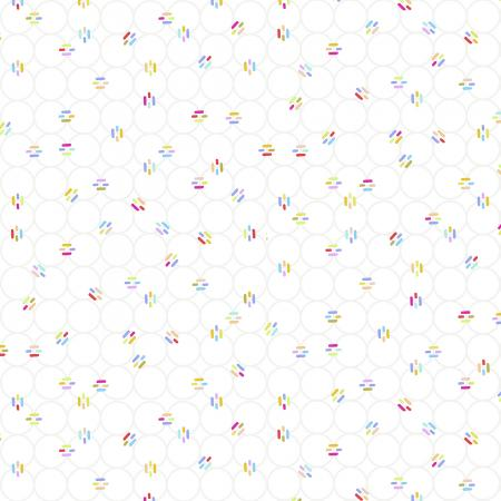 RJR miniature minis links in white background fabric low volume