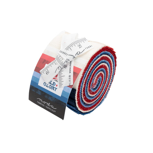 Moda Grunge Old Glory Junior Jelly Roll Red White Blue Faded