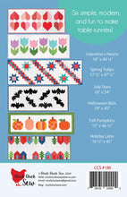 Load image into Gallery viewer, Modern Holiday Table Runners Pattern Cluck Cluck Sew Back