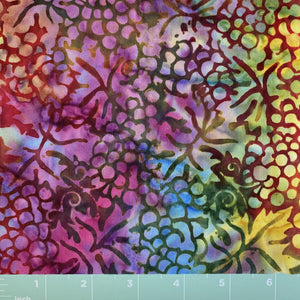 multi color background grapes leaves batik