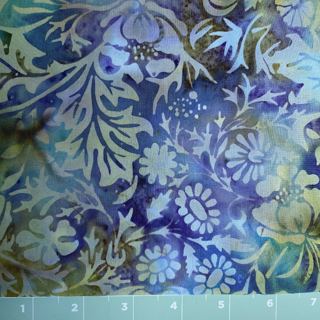 Floral Multi Colored Batik Print 2 yards