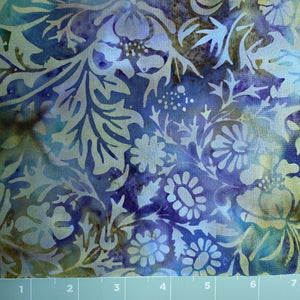 multi color back ground with floral print in batik