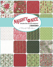 "Load image into Gallery viewer, Naughty or Nice 5"" inch charm pack Moda fabric basic grey made in japan"
