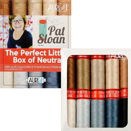 aurifil neutral color thread collection pat sloan curator