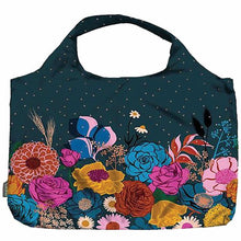 Load image into Gallery viewer, Meori Ruby Star Society Melody Miller Pocket Shopper Navy Shine Reusable Bag